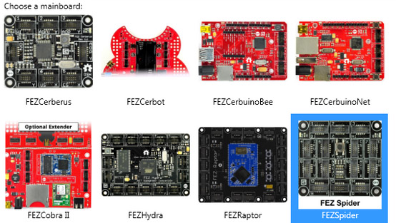 Select mainboard